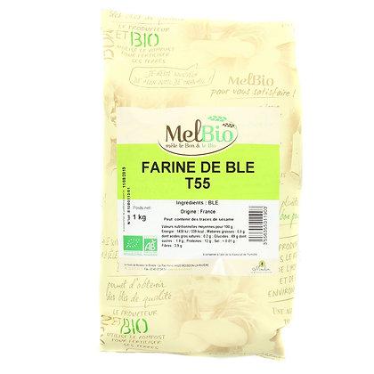 MELBIO - Farine de Blé T55 Patisserie 1KG