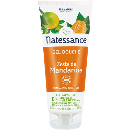 NATESSANCE - Gel Douche Zestes de Mandarine 200mL