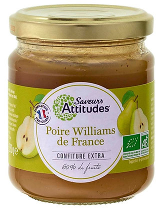 SAVEURS ATTITUDES - Confiture Poire Williams 220g