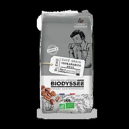 BIODYSSÉE - Café Grains Arabica Doux 1kg