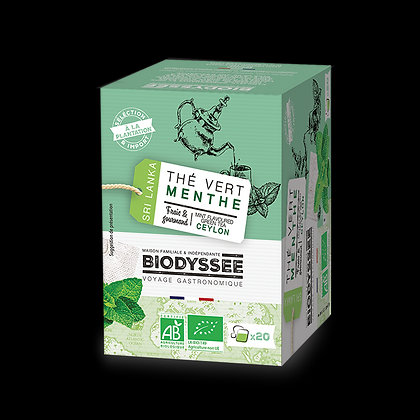 BIODYSSÉE - Thé Vert Menthe x20 infusettes