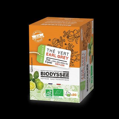 BIODYSSÉE - Thé Vert Earl Grey x20 infusettes