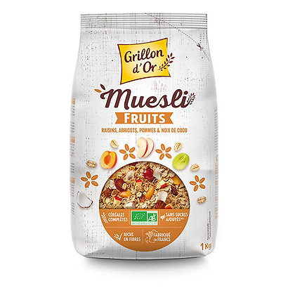 GRILLON D'OR - Muesli Fruits 1kg