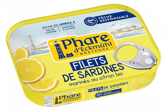 PHARE D'ECKMÜHL - Filets Sardines Citron 90g