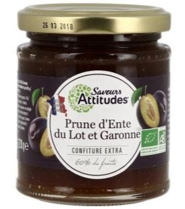 SAVEURS ATTITUDES - Confiture Prune d'Ente 220g