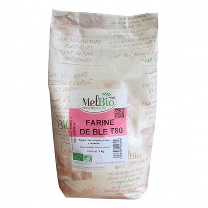 MELBIO - Farine de Blé T80 1KG