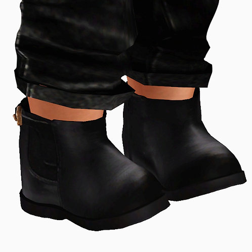 MINI FAUX LEATHER ANKLE BOOTS