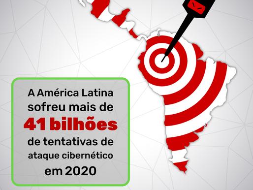 A América Latina sofreu mais de 41 bilhões de tentativas de ataque cibernético em 2020