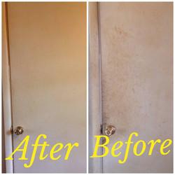 Nicotine covered door