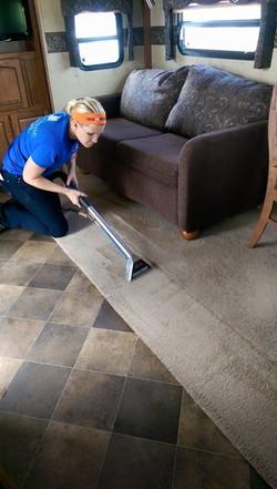 Camper carpet cleaning