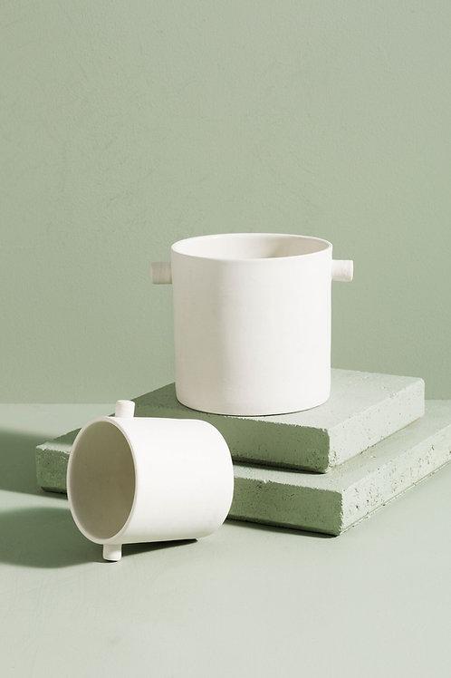 Zakkia - Small Handle Pot (White)
