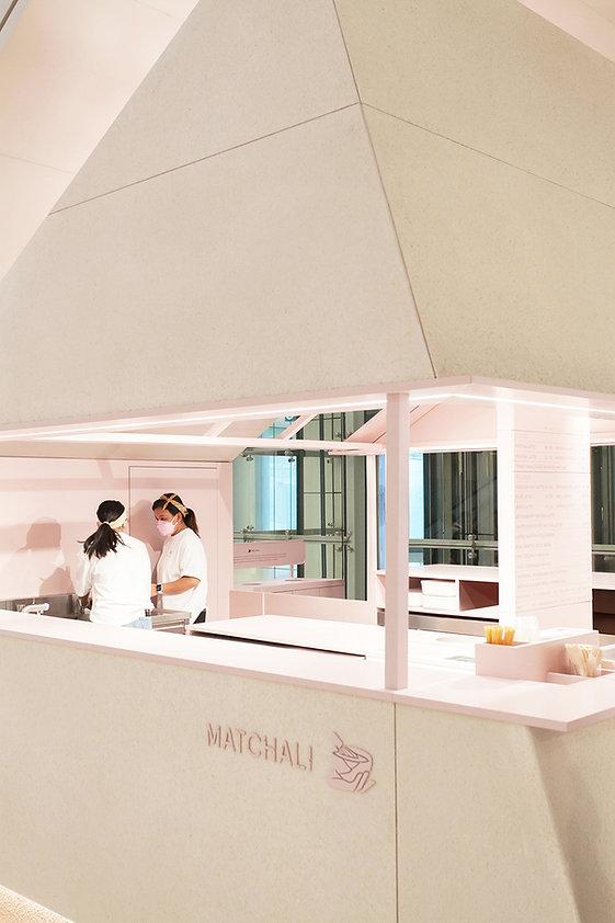 Matchali IFC Studio Adjective Shop Design IFC Popup Matchali, Matchali IFC interior design by Studio Adjective Hong Kong Shop design for Matchal IFC