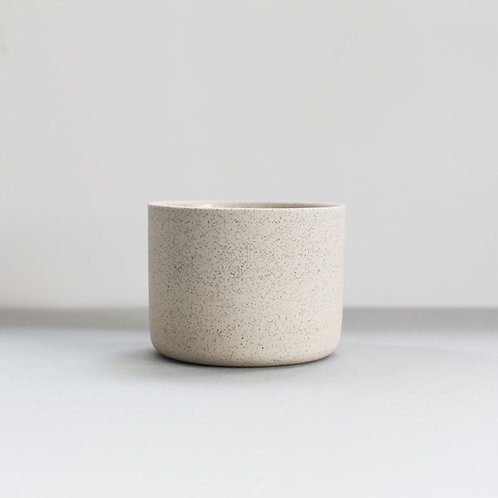 Ghostwares - white speckle cup