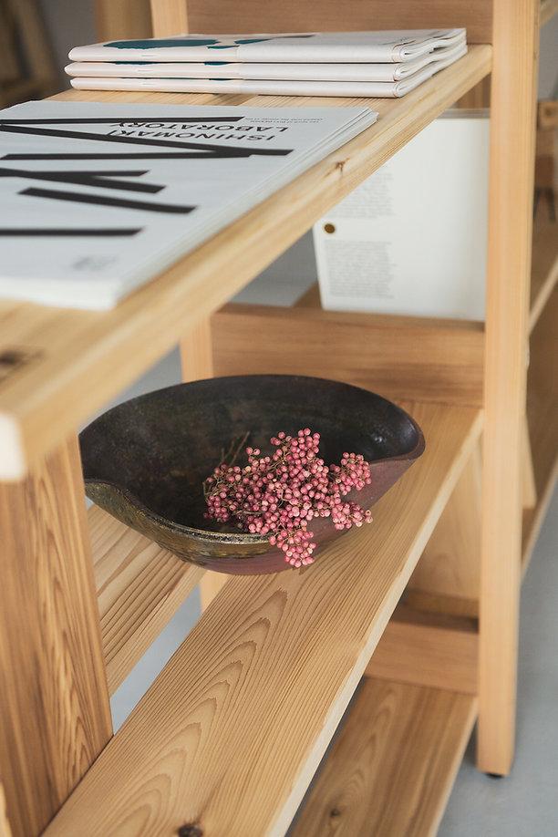 Tripodal Shelf Ishinomaki Lab 石卷工房 Tripodal Shelf , Wooden furniture, Japanese furniture, Studio Adjective Design, Hong Kong Designer, made in Japan furniture , 日本傢俱,Objective Hong Kong