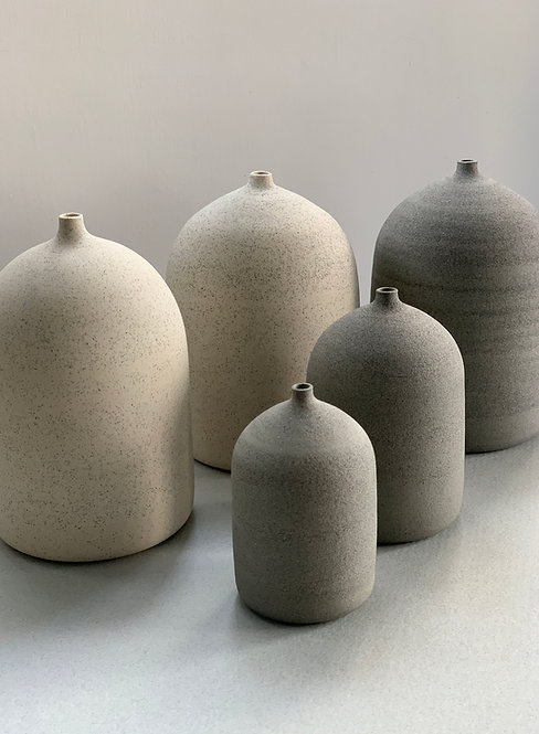 Ghostwares - White slate bud vase (large)