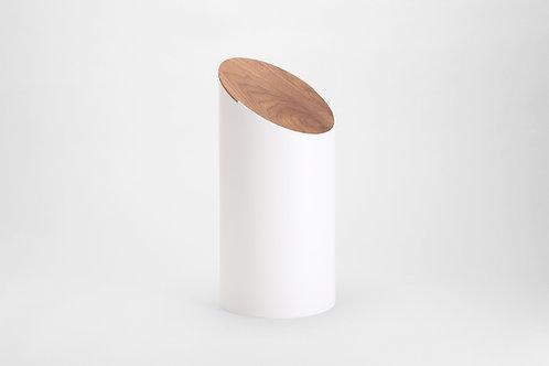 Moheim Swing Bin (White & Walnut)
