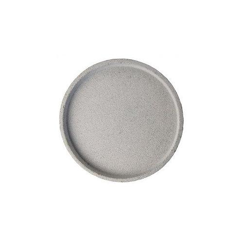 Zakkia - Concrete Round Tray (Natural Grey)