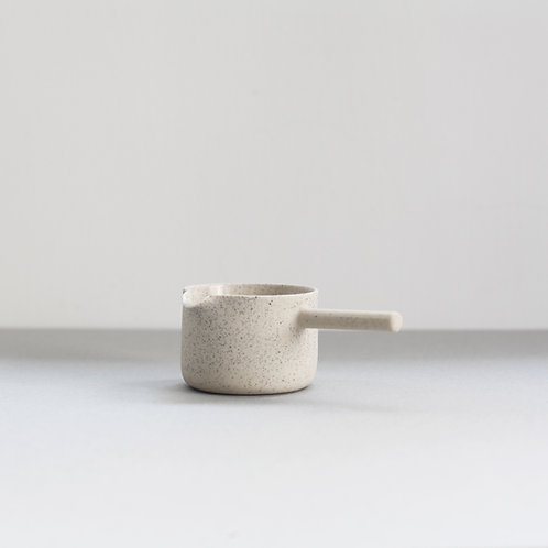 Ghostwares - white speckle pourer (small)