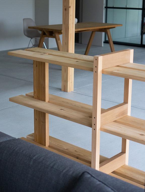 Tripodal Shelf Ishinomaki Lab 石卷工房 Tripodal Shelf , Wooden furniture, Japanese furniture, Studio Adjective Design, Hong Kong Designer, made in Japan furniture , 日本傢俱