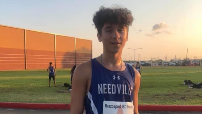 Andrew Pollard of Needville qualified for State XC as a mere freshman.
