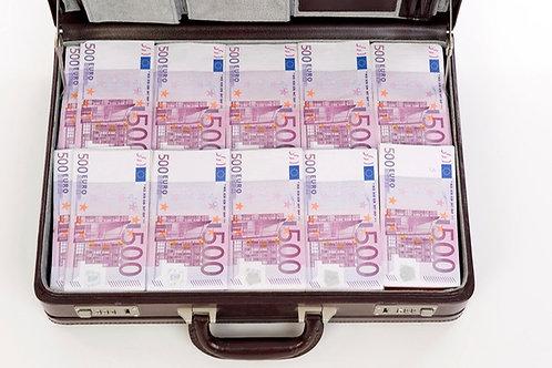 Mallette de 35 Liasses : Billets 500€ [150]
