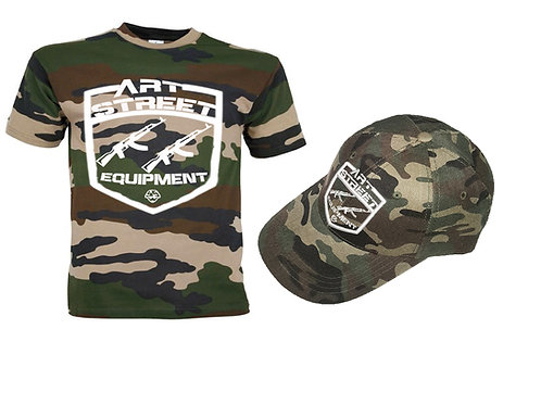 """Pack -Teeshirt + Casquette """"Camouflage"""""""