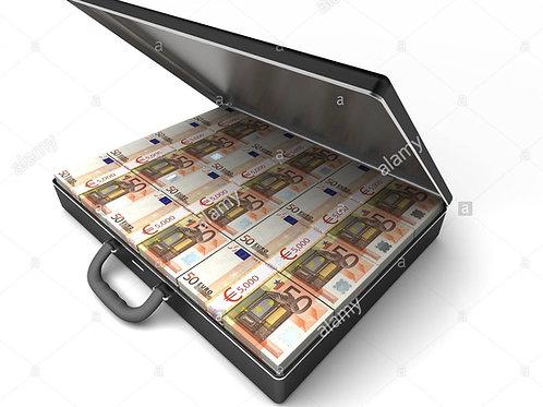 Mallette 35 Liasses : Billets de 50€ [150]