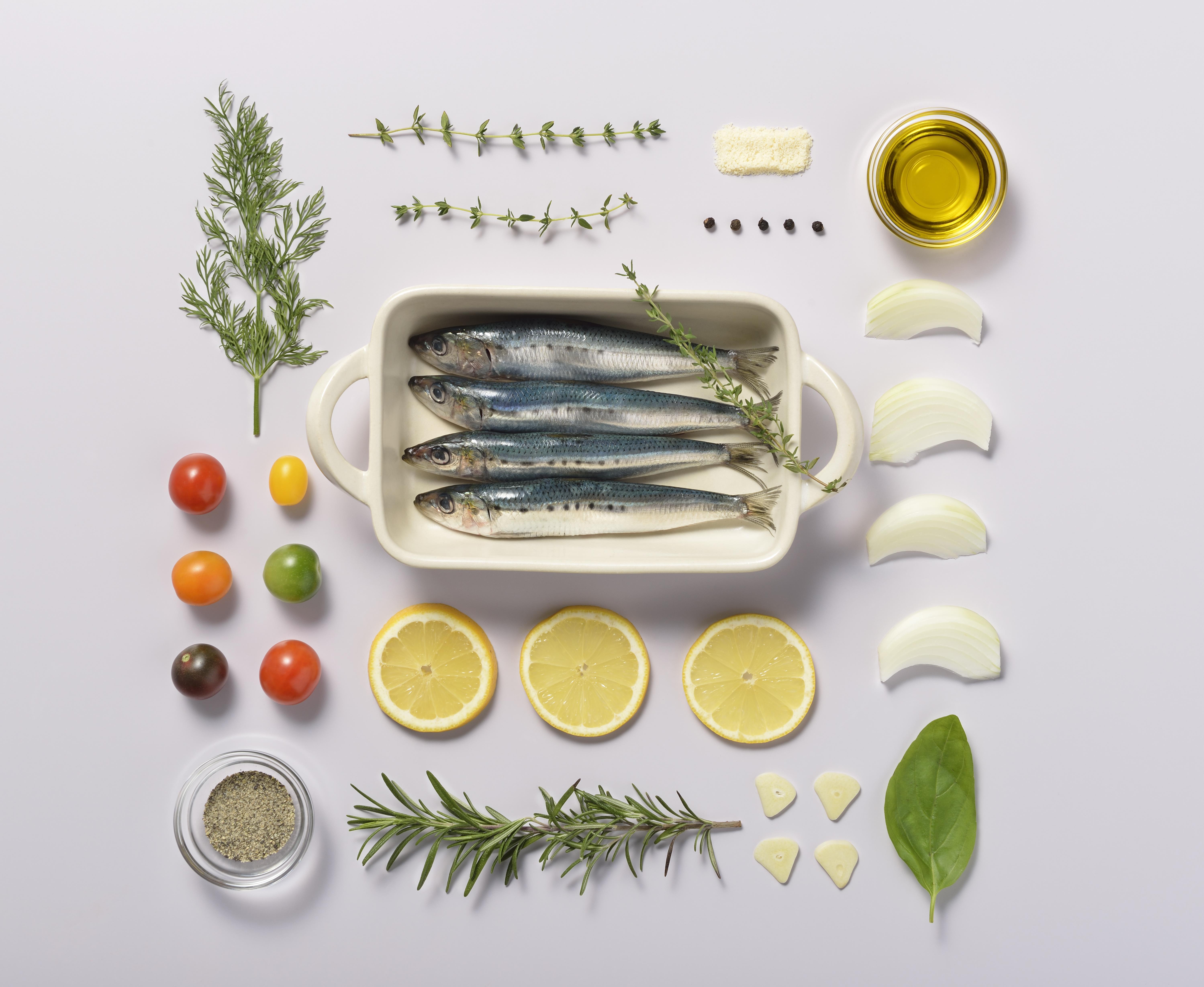 魚とハーブknolling