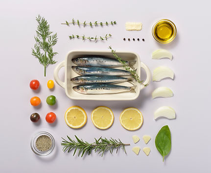 Fish and Herbs Knolling