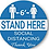 Thumbnail: Social Distancing Wait Here Stand Here Keep 6ft - Pack of 5 for $15