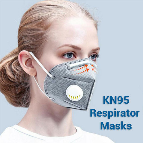 KN95 Grey Mask with Valve