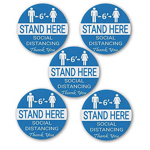 Social Distancing Wait Here Stand Here Keep 6ft - Pack of 5 for $15