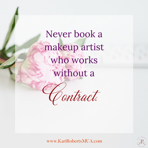 contract for wedding day makeup artist