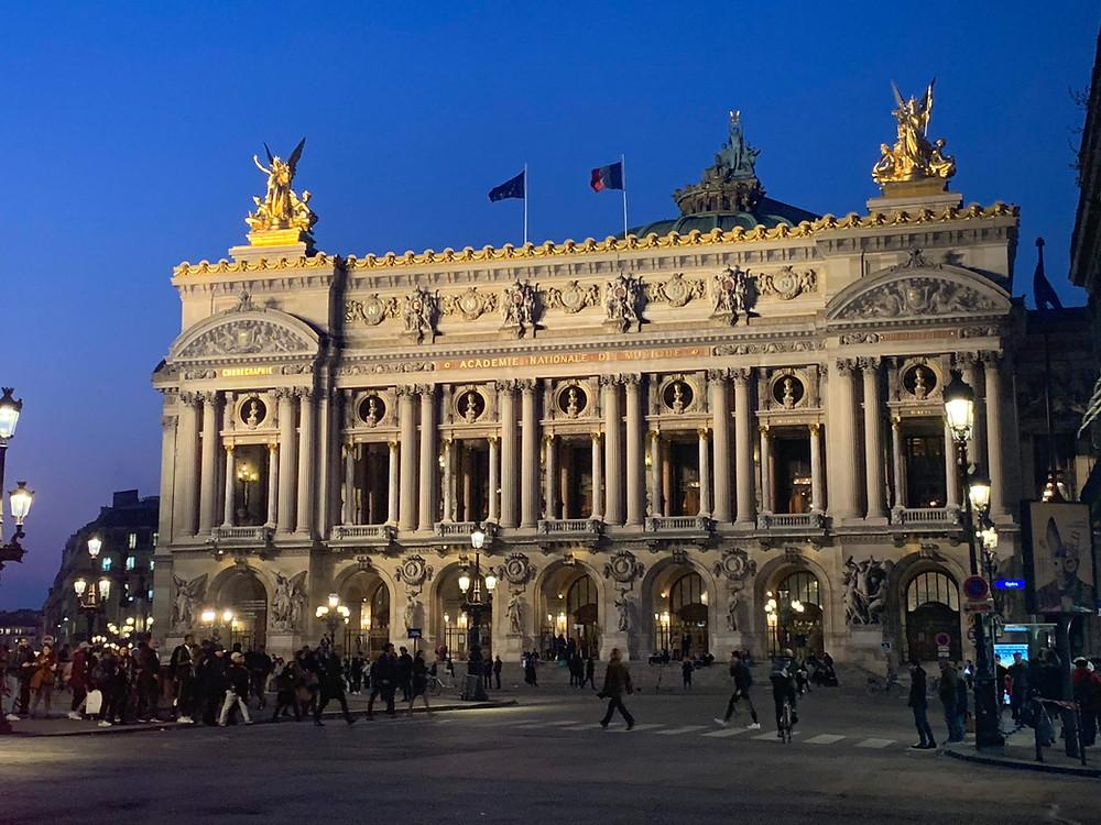 Paris Opera Garnier at night
