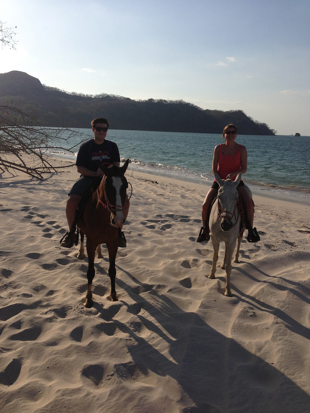 Kristen and Greg in Costa Rica riding horses