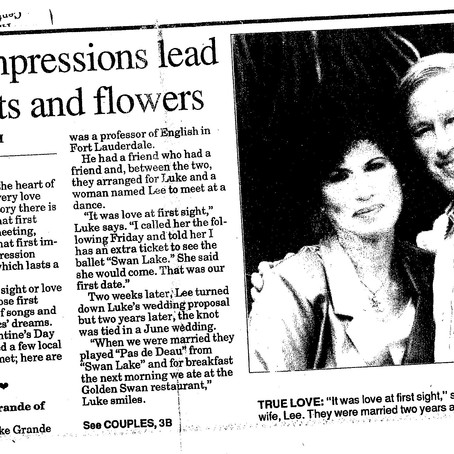 First Impressions Lead to Hearts and Flowers: The Love Story of My Late Grandparents