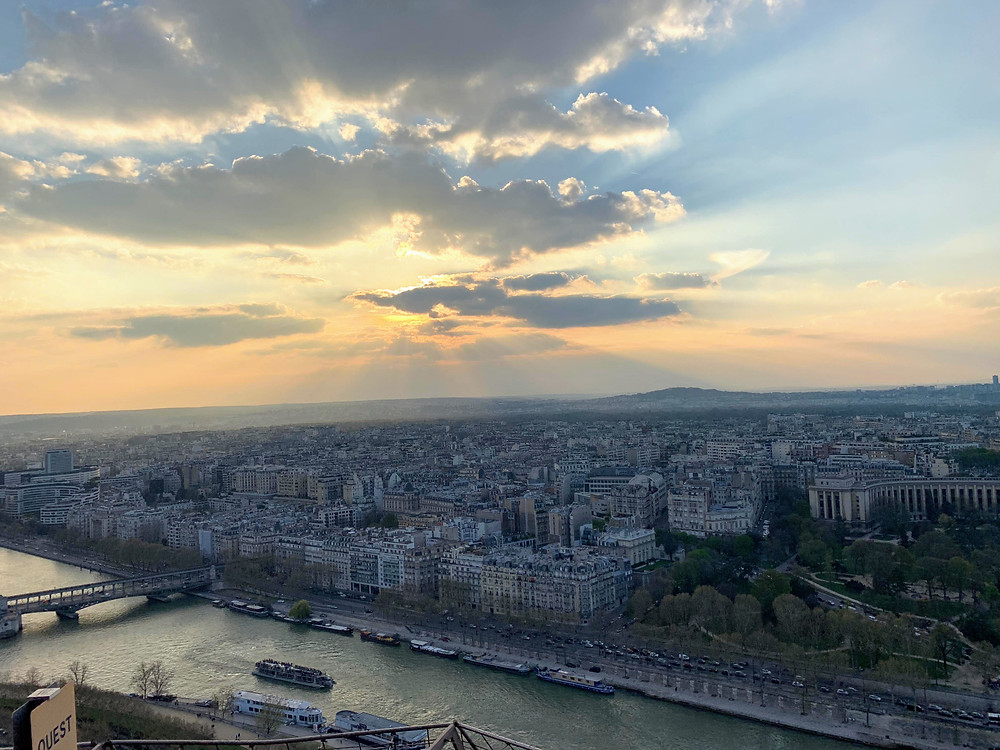 View from balcony of Eiffel Tower