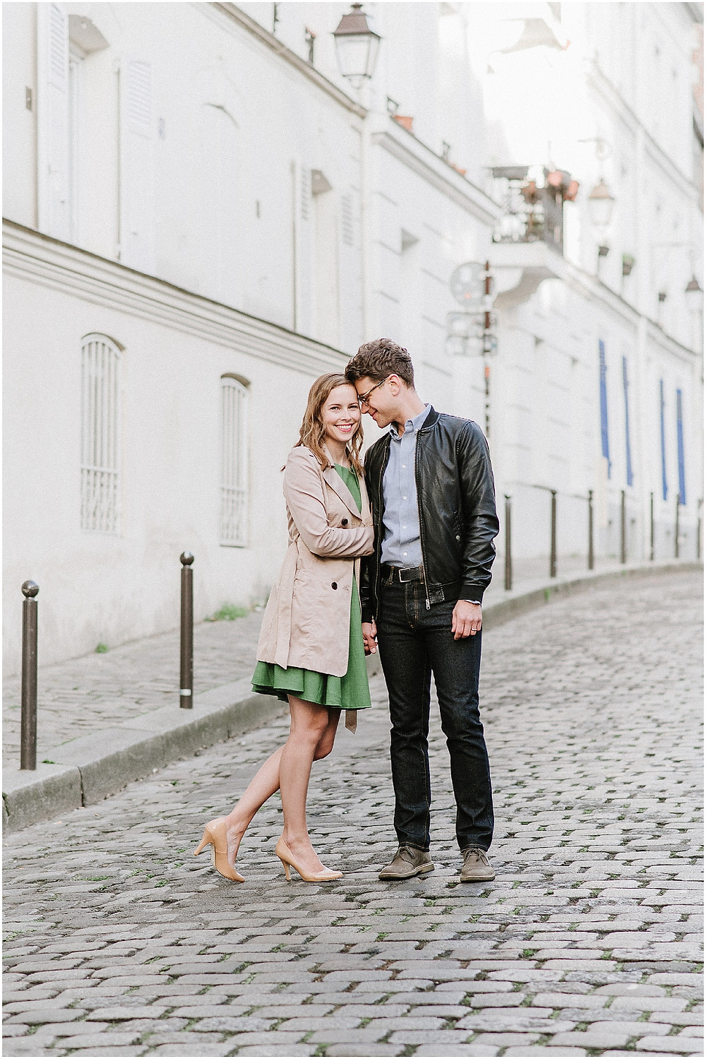 engagement photo in the street