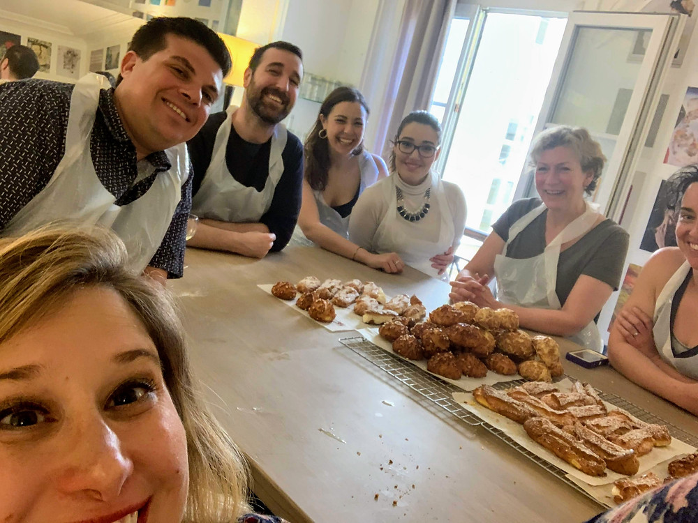 Our pastry baking class group photo