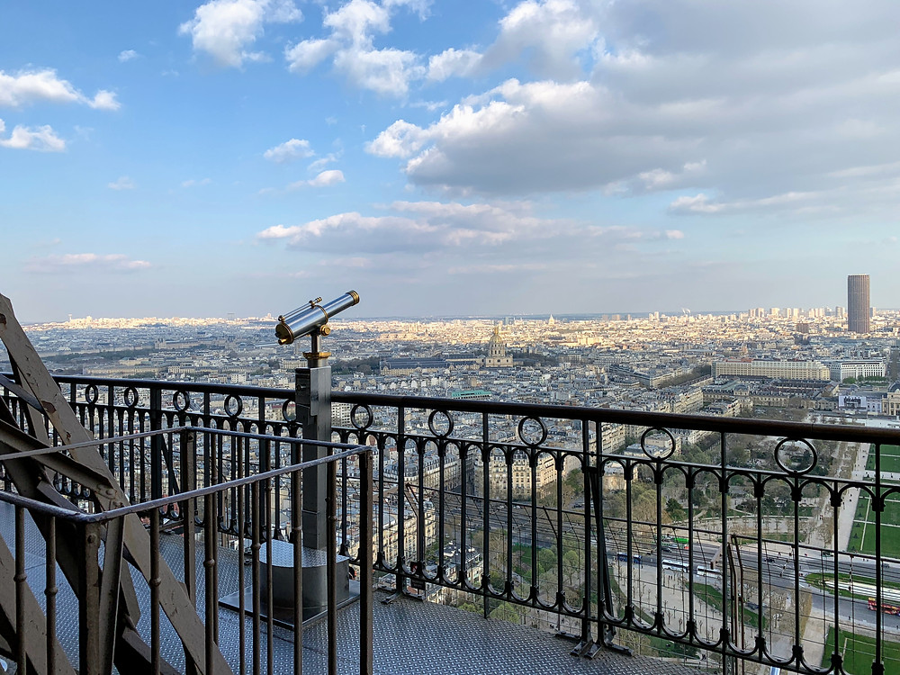 View from second floor of the Eiffel Tower