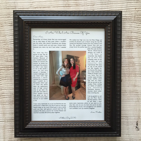 Personalized Mother's Day Gift Idea To Show Your Heartfelt Appreciation