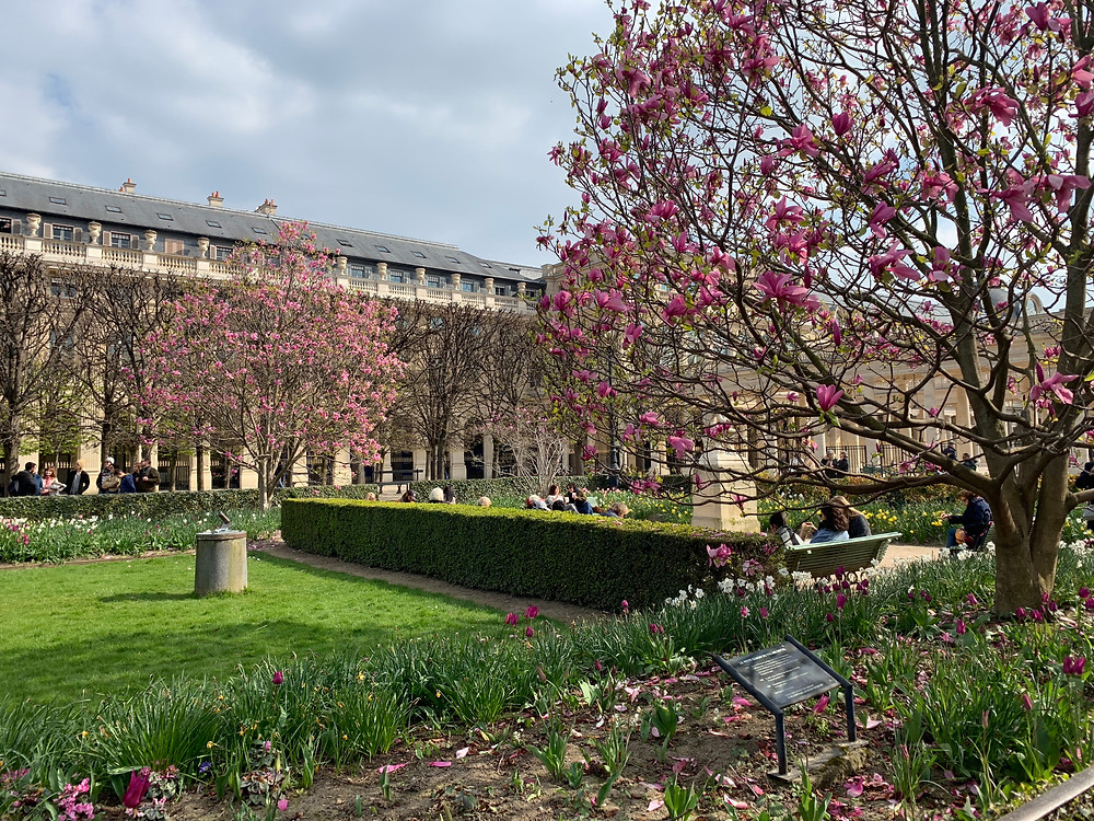 Royal Place Gardens in Paris
