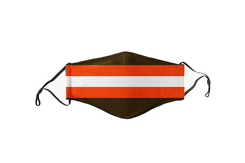 Brown & Orange Stripes Team Mask