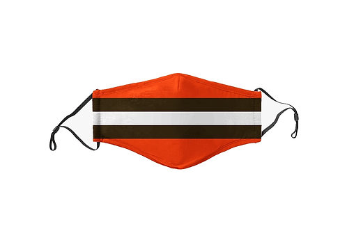 Orange & Brown Stripes Team Mask