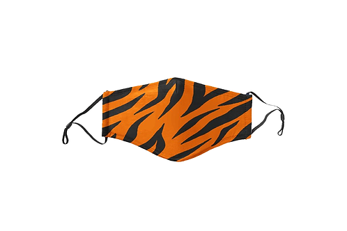 Black & Orange Tiger Stripes Face Mask