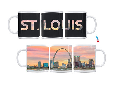 St. Louis Skyline ThermoH Exray Coffee Mug