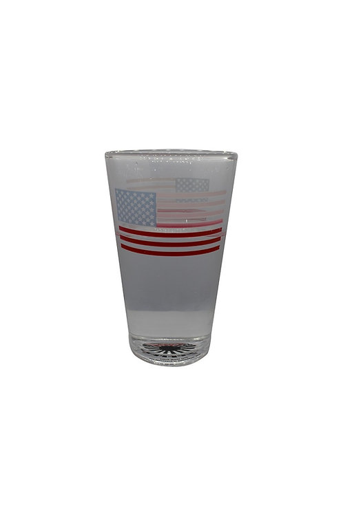 USA Flag ThermoC Logo Pint Glass