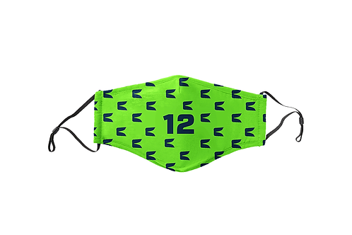 Electric Green 12 Face Mask