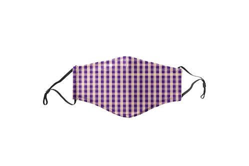 Purple & Gold Pattern Face Mask