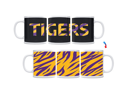 Purple & Yellow Tiger Stripes ThermoH Exray Mug